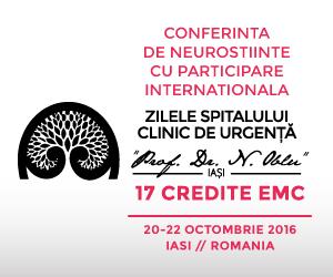 """""""Zilele Medicale ale Spitalului Clinic de Urgențe Prof. Dr. N. Oblu Iași"""" au loc în perioada 20-22 octombrie"""